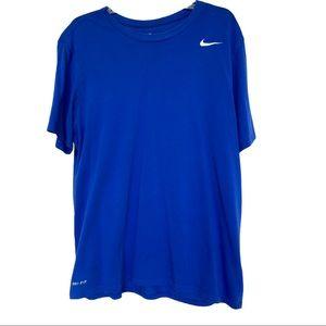 Nike Men's XL Blue Dri-Fit Athletic T-Shirt Tee